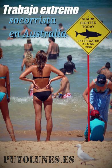 Trabajo extremo: socorrista en aguas peligrosas.