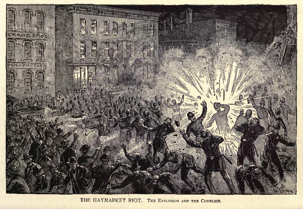 The Haymarket riot. Explosión.