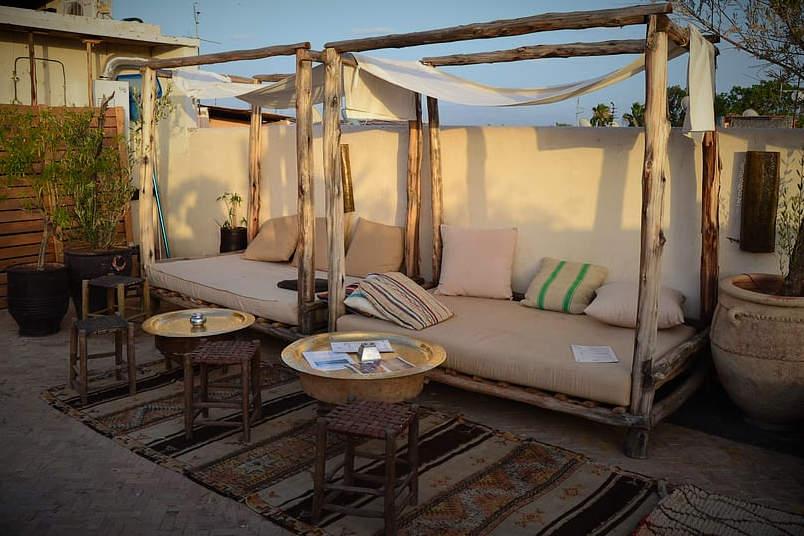 Azotea en Marrakech (Marruecos).