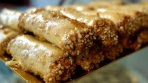 Marruecos. Pastas árabes. Rollitos.