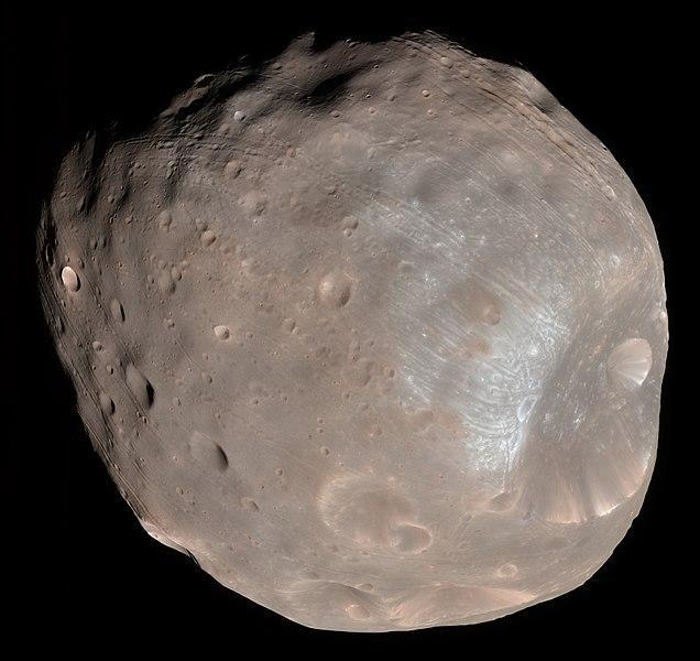 Imagen de la luna Fobos (Phobos).
