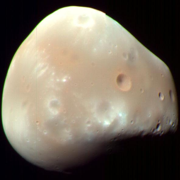 Imagen de la luna Deimos.