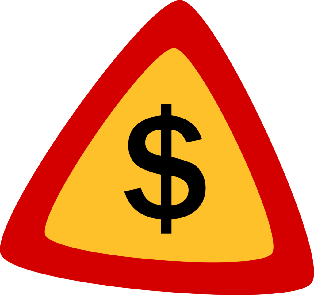 señal peligro obras euro